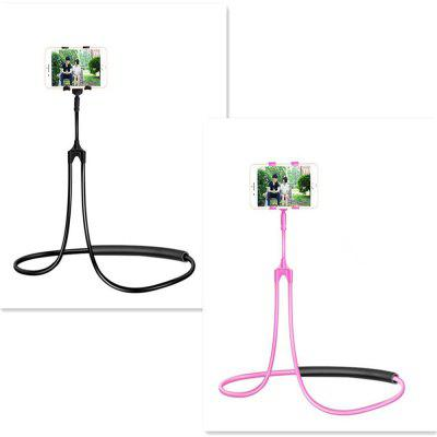Flexible Mobile Phone Holder Hanging Neck Lazy Necklace Bracket Smartphone Holder Stand for iPhone and Android cell phone holder breett universal cell phone clip holder lazy bracket flexible long arms for iphone 6 plus 6 5s 5 4s 4 gps devices fit on desktop bed mobile stand for bedroom office bathroom kitchen etc