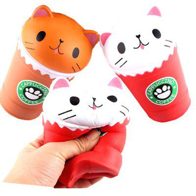 Jumbo Squishy PU Slow Rebound Stress Relief Toy Replica Cartoon Cat Head Coffee Cup for AdultsSquishy toys<br>Jumbo Squishy PU Slow Rebound Stress Relief Toy Replica Cartoon Cat Head Coffee Cup for Adults<br><br>Age Range: &gt; 6 years old<br>Materials: PU<br>Package Content: 1 x Toy<br>Package Dimension: 11.00 x 8.00 x 16.00 cm / 4.33 x 3.15 x 6.3 inches<br>Pattern Type: Cup<br>Product Dimension: 9.00 x 7.00 x 14.00 cm / 3.54 x 2.76 x 5.51 inches<br>Products Type: Toy<br>Use: Cabinet Decoration, Photography Props, Home Decoration