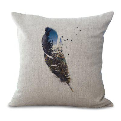 A1122 - 3 Feather Series Sofa Cushion Cover Case Car Back Pillow Float Window Decoration 45 x 45cm