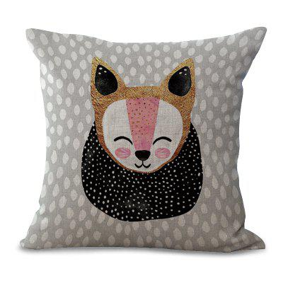 C1067 - 2 Cartoon Lovely Animal Wave Dot Printing Home Sofa Pillow Cover Cushion Floating Window Decoration 45 x 45cm