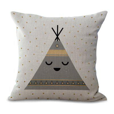 C1067 - 3 Cartoon Lovely Animal Wave Dot Printing Home Sofa Pillow Cover Cushion Floating Window Decoration 45 x 45cm