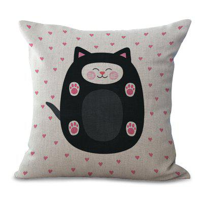 C1067 - 4 Cartoon Lovely Animal Wave Dot Printing Home Sofa Pillow Cover Cushion Floating Window Decoration 45 x 45cm