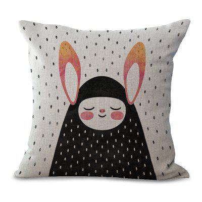 C1067 - 5 Cartoon Lovely Animal Wave Dot Printing Home Sofa Pillow Cover Cushion Floating Window Decoration 45 x 45cm