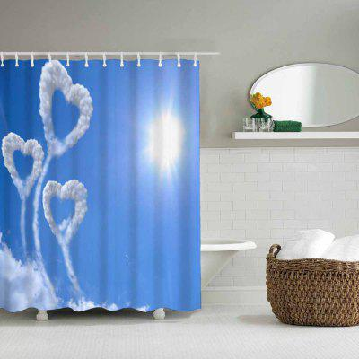Love Cloud Bathroom Waterproof Polyester Shower CurtainShower Curtain<br>Love Cloud Bathroom Waterproof Polyester Shower Curtain<br><br>Backing: Non Skid<br>Filling: None<br>Material: Polyester<br>Package Contents: 1x Shower curtain, 12x Plastic hook<br>Package size (L x W x H): 35.00 x 23.00 x 2.00 cm / 13.78 x 9.06 x 0.79 inches<br>Package weight: 0.4000 kg<br>Patterns: Print<br>Shape: Rectangle<br>Style: Fashion, Novelty<br>Technique: Hand Made<br>Thickness: Opaque