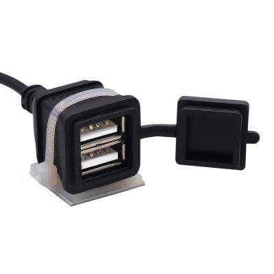 12V-24V 3.1A Dual USB Charger Socket Waterproof Power Outlet for Motorcycle Car Boat Marine