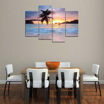 MailingArt FIV346   4 Panels Landscape Wall Art Painting Home Decor Canvas PrintPrints<br>MailingArt FIV346   4 Panels Landscape Wall Art Painting Home Decor Canvas Print<br><br>Craft: Print<br>Form: Four Panels<br>Material: Canvas<br>Package Contents: 4 x Print<br>Package size (L x W x H): 82.00 x 32.00 x 12.00 cm / 32.28 x 12.6 x 4.72 inches<br>Package weight: 1.8000 kg<br>Painting: Include Inner Frame<br>Shape: Horizontal Panoramic<br>Style: Vehicle, Scenic, Landscape, Popular, Natural, Office<br>Subjects: Seascape<br>Suitable Space: Living Room,Bedroom,Dining Room,Office,Hotel,Cafes,Kids Room,Kitchen,Hallway,Kids Room,Study Room / Office