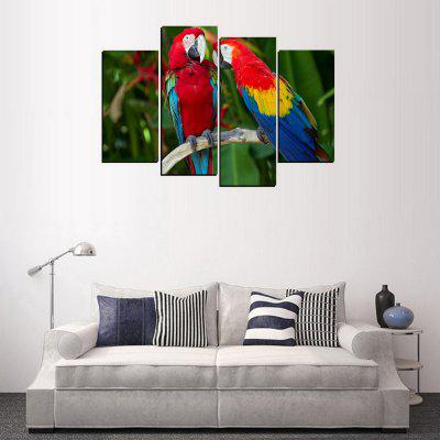 MailingArt FIV363  4 Panels Parrots Wall Art Painting Home Decor Canvas PrintPrints<br>MailingArt FIV363  4 Panels Parrots Wall Art Painting Home Decor Canvas Print<br><br>Craft: Print<br>Form: Four Panels<br>Material: Canvas<br>Package Contents: 4 x Print<br>Package size (L x W x H): 82.00 x 32.00 x 12.00 cm / 32.28 x 12.6 x 4.72 inches<br>Package weight: 1.8000 kg<br>Painting: Include Inner Frame<br>Shape: Horizontal Panoramic<br>Style: Construction, Animal<br>Subjects: Animal<br>Suitable Space: Living Room,Bedroom,Dining Room,Office,Hotel,Cafes,Kids Room,Kitchen,Hallway,Kids Room,Study Room / Office