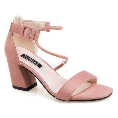 Mulheres Buckle Pumps Open Toe Thick Sandals para meninas