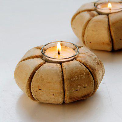 Wooden Pumpkin Shape Candle holderCandle &amp; Candle Holders<br>Wooden Pumpkin Shape Candle holder<br><br>Package Contents: 1 ? Candle Holder, 1 ? Glass Liner<br>Package size (L x W x H): 17.40 x 11.50 x 9.50 cm / 6.85 x 4.53 x 3.74 inches<br>Package weight: 0.3300 kg