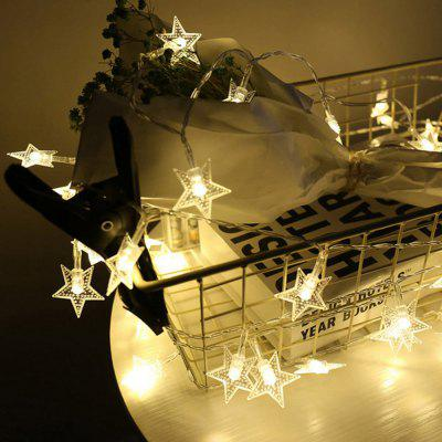 1pc garland christmas lights stars outdoor indoor fairy lights 1pc garland christmas lights stars outdoor indoor fairy lights battery powered for tree home decoration mozeypictures Gallery