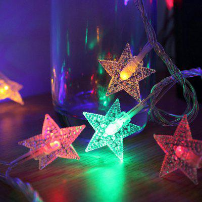 1PC Garland Christmas Lights Stars Outdoor Indoor Fairy Lights Battery Powered For Tree Home Decoration