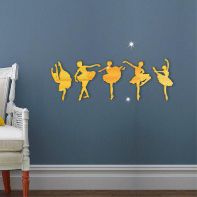 New Dance Ballet Girl Mirror Decorative Wall StickersWall Stickers<br>New Dance Ballet Girl Mirror Decorative Wall Stickers<br><br>Function: Decorative Wall Sticker<br>Material: Acrylic<br>Package Contents: 1 x  Wall Sticker<br>Package size (L x W x H): 15.00 x 30.00 x 1.00 cm / 5.91 x 11.81 x 0.39 inches<br>Package weight: 0.1100 kg<br>Product size (L x W x H): 40.00 x 30.00 x 1.00 cm / 15.75 x 11.81 x 0.39 inches<br>Product weight: 0.1080 kg<br>Quantity: 1<br>Subjects: Fashion<br>Suitable Space: Living Room<br>Type: 3D Wall Sticker