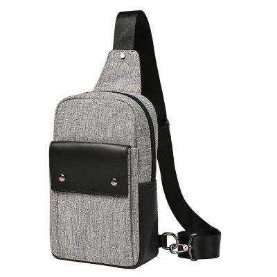 Men Small Crossbody Bag Fashion Canvas Unbalance Backpack Outdoor Cycling Sling Walst Pack