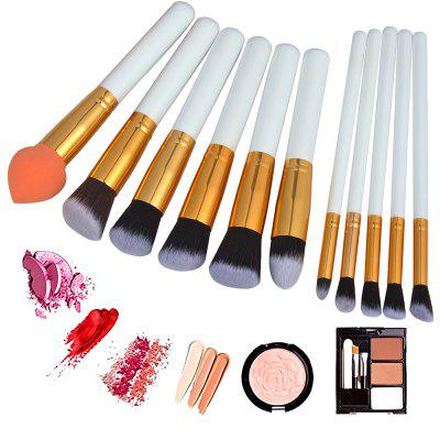 11PCS White Gold High Quality Professional Makeup Brushes SetMakeup Brushes &amp; Tools<br>11PCS White Gold High Quality Professional Makeup Brushes Set<br><br>Brush Material: Fiber Hair<br>Handle Material: Wood<br>Package Content: 11 x Makeup Brush<br>Package size (L x W x H): 20.00 x 10.00 x 2.50 cm / 7.87 x 3.94 x 0.98 inches<br>Package weight: 0.1700 kg<br>Used With: Sets / Kits