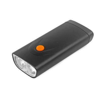 CTSmart BF03 LED Bicycle Headlight Portable Charger  -  BLACK