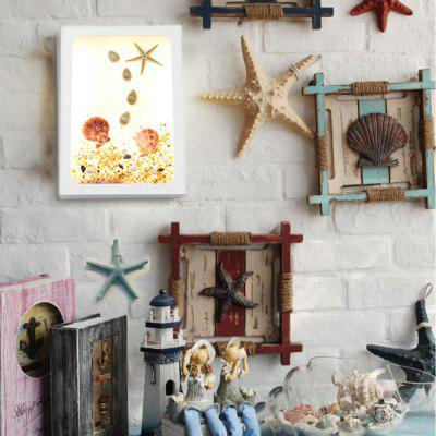 Handmade Original Marine Series Pink Starfish Creative LED Decorative Wall Lamp