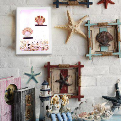 Handmade Original Marine Series Pink Scallop Creative LED Decorative Wall Lamp