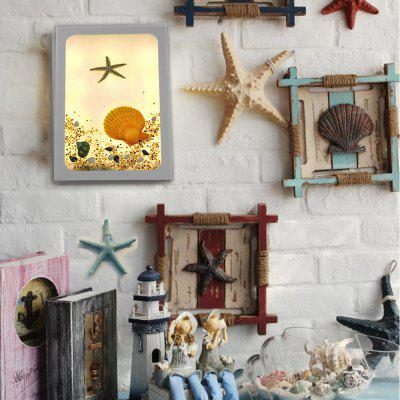 Handmade Original Marine Series Blue Starfish Creative LED Decorative Wall Lamp
