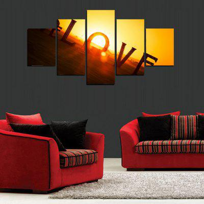 MailingArt FIV367  5 Panels Landscape Wall Art Painting Home Decor Canvas PrintPrints<br>MailingArt FIV367  5 Panels Landscape Wall Art Painting Home Decor Canvas Print<br><br>Craft: Print<br>Form: Five Panels<br>Material: Canvas<br>Package Contents: 5 x Print<br>Package size (L x W x H): 82.00 x 32.00 x 12.00 cm / 32.28 x 12.6 x 4.72 inches<br>Package weight: 1.8000 kg<br>Painting: Include Inner Frame<br>Shape: Horizontal Panoramic<br>Style: Romantic, Concise<br>Subjects: Romance<br>Suitable Space: Bedroom,Cafes,Dining Room,Hallway,Hotel,Kids Room,Kids Room,Kitchen,Living Room,Office,Study Room / Office