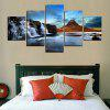 MailingArt FIV374  5 Panels Landscape Wall Art Painting Home Decor Canvas Print - MULTI