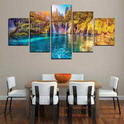 MailingArt FIV380  5 Panels Landscape Wall Art Painting Home Decor Canvas PrintPrints<br>MailingArt FIV380  5 Panels Landscape Wall Art Painting Home Decor Canvas Print<br><br>Craft: Print<br>Form: Five Panels<br>Material: Canvas<br>Package Contents: 5 x Print<br>Package size (L x W x H): 82.00 x 32.00 x 12.00 cm / 32.28 x 12.6 x 4.72 inches<br>Package weight: 1.8000 kg<br>Painting: Include Inner Frame<br>Shape: Horizontal Panoramic<br>Style: Natural<br>Subjects: Landscape<br>Suitable Space: Living Room,Bedroom,Dining Room,Office,Hotel,Cafes,Kids Room,Kitchen,Hallway,Kids Room,Study Room / Office