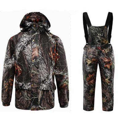 DaMaiZhang Outdoor Sports Men Women Spring Camouflage Hunting Fishing Suit Jacket Coat Camo Trousers