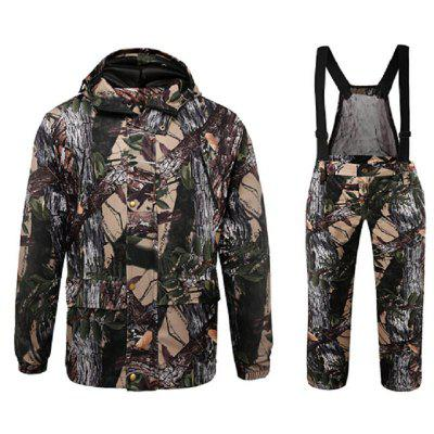 DaMaiZhang Men Women Spring Outdoor Sports Camouflage Hunting Fishing Clothing Suit Jacket Camo Trousers
