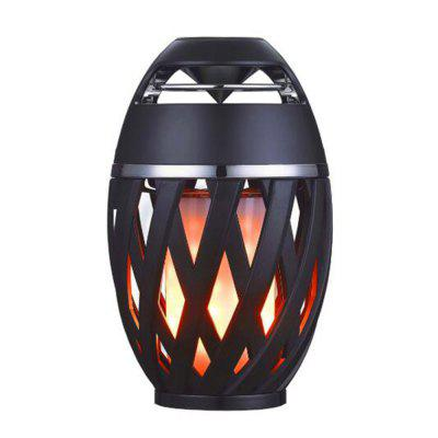 LED Flame Table Lamp Bluetooth Speaker Portable Speaker Torch Atmosphere Light USB Charging Stereo Sounbar For Christmas