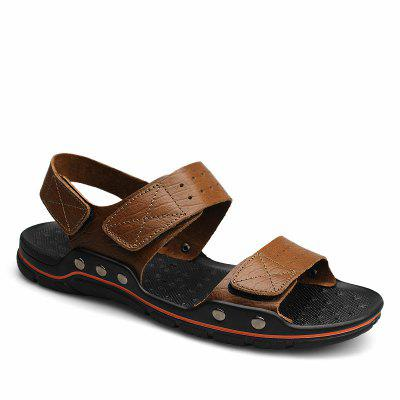 ZEACAVA Men Leisure Leather Beach Sandals