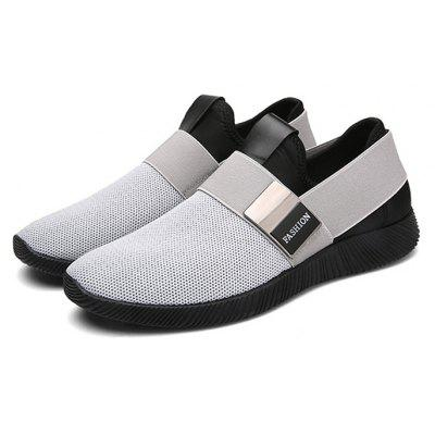 Men Stretch Mesh Fabric Elastic Panels Metal Decoration Sport Running Sneakers ShoesMen's Sneakers<br>Men Stretch Mesh Fabric Elastic Panels Metal Decoration Sport Running Sneakers Shoes<br><br>Available Size: 39-44<br>Closure Type: Lace-Up<br>Embellishment: Letter<br>Gender: For Men<br>Outsole Material: Rubber<br>Package Contents: 1  x Pair of Shoes<br>Pattern Type: Geometric<br>Season: Summer, Winter, Spring/Fall<br>Toe Shape: Round Toe<br>Toe Style: Closed Toe<br>Upper Material: Nylon<br>Weight: 2.6250kg