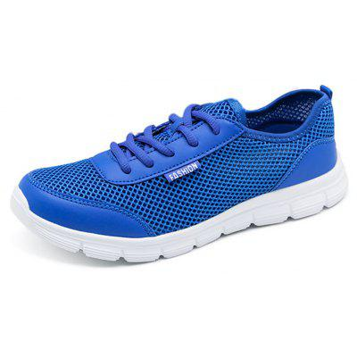 Summer Casual Light-weigh Breathable Running Shoes for Men and WomenMen's Sneakers<br>Summer Casual Light-weigh Breathable Running Shoes for Men and Women<br><br>Closure Type: Lace-Up<br>Contents: 1 x Shoes (pair)<br>Materials: Air Mesh, PU<br>Occasion: Beach, Running<br>Outsole Material: EVA<br>Package Size ( L x W x H ): 32.00 x 16.00 x 11.00 cm / 12.6 x 6.3 x 4.33 inches<br>Package weight: 0.4300 kg<br>Seasons: Spring,Summer,Autumn<br>Style: Casual<br>Toe Shape: Round Toe<br>Type: Casual Shoes<br>Upper Material: PU,Air Mesh