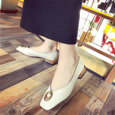 Shallow Mouth Womens Single ShoesLoafers<br>Shallow Mouth Womens Single Shoes<br><br>Available Size: 35.36.37.38.39<br>Closure Type: Slip-On<br>Embellishment: None<br>Gender: For Women<br>Outsole Material: Rubber<br>Package Contents: 1 x shoes ?pair?<br>Pattern Type: Others<br>Season: Summer, Spring/Fall<br>Toe Shape: Square Toe<br>Toe Style: Closed Toe<br>Upper Material: Leather<br>Weight: 1.0800kg
