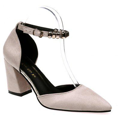 Buy Fashion Temperament Female High Heels BEIGE SINGLE 35 for $32.79 in GearBest store