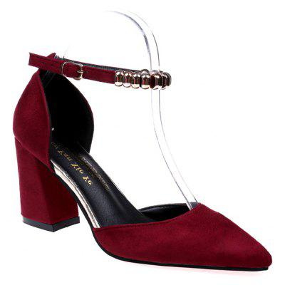 Buy Fashion Temperament Female High Heels WINE RED 37 for $32.79 in GearBest store