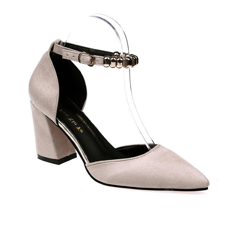 Fashion Temperament Female High Heels BEIGE SINGLE 37