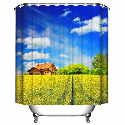 Pastoral Scenery Waterproof Polyester Shower Curtain