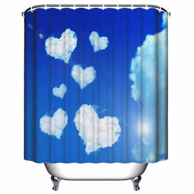 Love White Clouds  Bathroom Waterproof Polyester Shower CurtainShower Curtain<br>Love White Clouds  Bathroom Waterproof Polyester Shower Curtain<br><br>Backing: Non Skid<br>Filling: None<br>Material: Polyester<br>Package Contents: 1 x Shower Curtain, 12 x Plastic Hook<br>Package size (L x W x H): 35.00 x 23.00 x 2.00 cm / 13.78 x 9.06 x 0.79 inches<br>Package weight: 0.3500 kg<br>Patterns: Print<br>Shape: Rectangle<br>Style: Fashion, Novelty<br>Technique: Hand Made<br>Thickness: Opaque