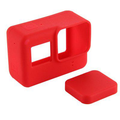 Buy Pro Accessories Action Camera Case Protective Silicone Case Skin +Lens Cap cover for GoPro Hero 5 Black Hero 6 Camera RED for $2.20 in GearBest store