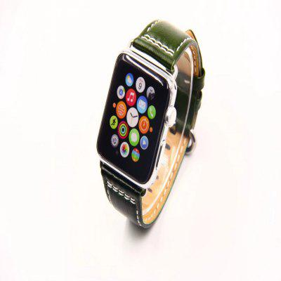 38mm Fashionable Oil Leather Strap for iWatch 1/2/3