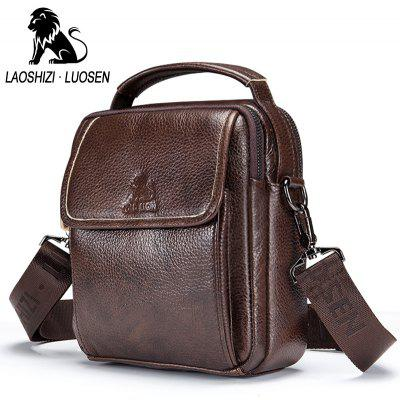 LAOSHIZI LUOSEN  Vintage Leather  Genuine Leather Shoulder Bag men crossbody bag sling Leisure BagCrossbody Bags<br>LAOSHIZI LUOSEN  Vintage Leather  Genuine Leather Shoulder Bag men crossbody bag sling Leisure Bag<br><br>Closure Type: Zipper &amp; Hasp<br>Embellishment: Letter<br>Gender: For Men<br>Handbag Size: Small(20-30cm)<br>Handbag Type: Crossbody bag<br>Hardness: Soft<br>Interior: Zipper Pouch, Interior Compartment, Interior Zipper Pocket, Interior Slot Pocket<br>Main Material: Polyester<br>Occasion: Versatile<br>Package Contents: 1 x Bag<br>Package size (L x W x H): 25.00 x 10.00 x 28.00 cm / 9.84 x 3.94 x 11.02 inches<br>Package weight: 0.3000 kg<br>Pattern Type: Solid<br>Product size (L x W x H): 18.00 x 7.00 x 21.00 cm / 7.09 x 2.76 x 8.27 inches<br>Product weight: 0.3000 kg<br>Style: Vintage