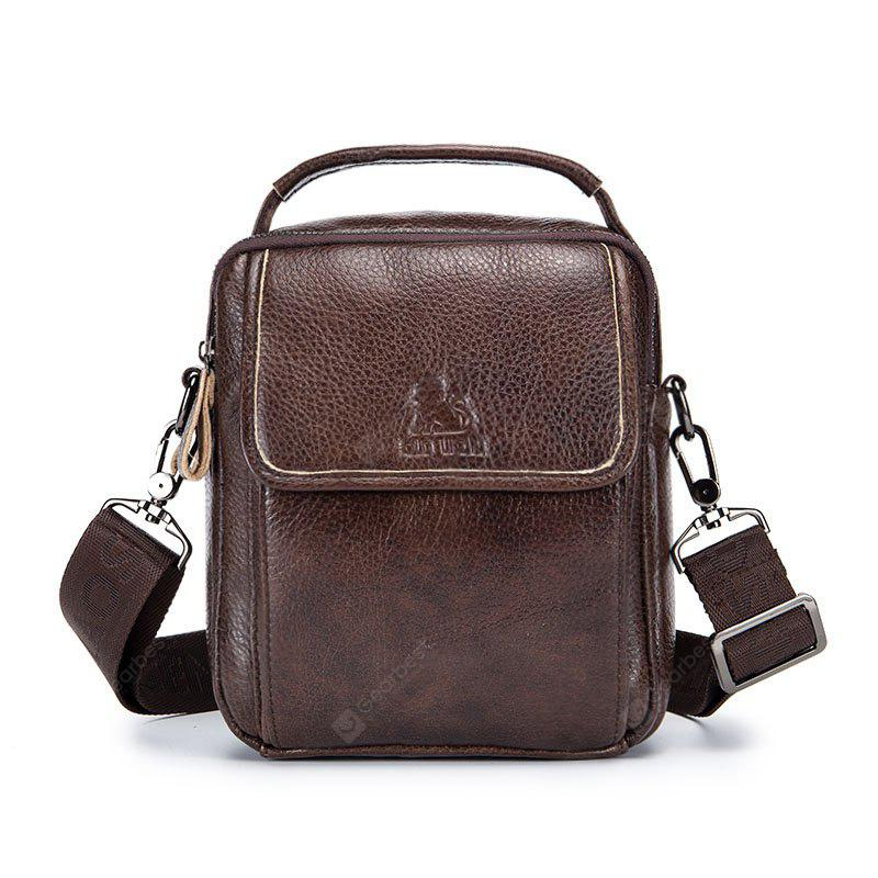 1755e667f76 LAOSHIZI LUOSEN Vintage Leather Genuine Leather Shoulder Bag ...