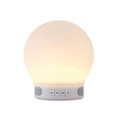DOYO T28  LED Night Light Wireless Speaker TF CardWireless Portable Bedside Lamp Built-in Mic Alarm Clock