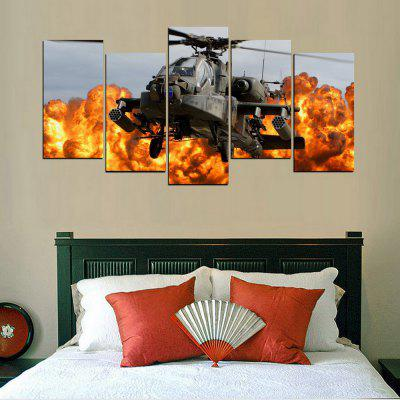 MailingArt FIV369  5 Panels Army Helicopter Wall Art Painting Home Decor Canvas PrintPrints<br>MailingArt FIV369  5 Panels Army Helicopter Wall Art Painting Home Decor Canvas Print<br><br>Craft: Print<br>Form: Five Panels<br>Material: Canvas<br>Package Contents: 5 x Print<br>Package size (L x W x H): 82.00 x 32.00 x 12.00 cm / 32.28 x 12.6 x 4.72 inches<br>Package weight: 1.8000 kg<br>Painting: Include Inner Frame<br>Shape: Horizontal Panoramic<br>Style: Military, Natural<br>Subjects: People<br>Suitable Space: Living Room,Bedroom,Dining Room,Office,Hotel,Cafes,Kitchen,Corridor,Hallway,Study Room / Office