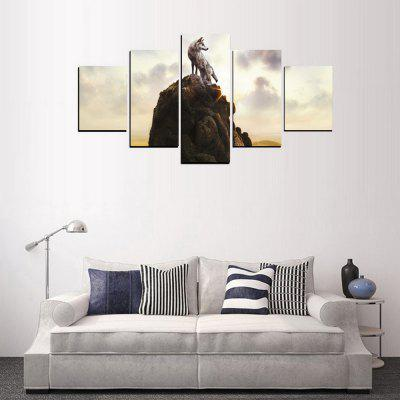 MailingArt FIV406  5 Panels Landscape Wall Art Painting Home Decor Canvas PrintPrints<br>MailingArt FIV406  5 Panels Landscape Wall Art Painting Home Decor Canvas Print<br><br>Craft: Print<br>Form: Five Panels<br>Material: Canvas<br>Package Contents: 5 x Print<br>Package size (L x W x H): 38.00 x 8.00 x 8.00 cm / 14.96 x 3.15 x 3.15 inches<br>Package weight: 0.3000 kg<br>Painting: Include Inner Frame<br>Shape: Horizontal Panoramic<br>Style: Oil Painting, Military, Animal, Scenic<br>Subjects: Animal<br>Suitable Space: Living Room,Bedroom,Dining Room,Office,Hotel,Cafes,Kitchen,Corridor,Hallway,Study Room / Office