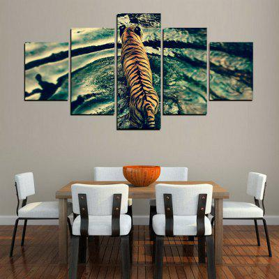 MailingArt FIV410  5 Panels Animal Wall Art Painting Home Decor Canvas PrintPrints<br>MailingArt FIV410  5 Panels Animal Wall Art Painting Home Decor Canvas Print<br><br>Craft: Print<br>Form: Five Panels<br>Material: Canvas<br>Package Contents: 5 x Print<br>Package size (L x W x H): 38.00 x 8.00 x 8.00 cm / 14.96 x 3.15 x 3.15 inches<br>Package weight: 0.3000 kg<br>Painting: Include Inner Frame<br>Shape: Horizontal Panoramic<br>Style: Military, Realism, Animal<br>Subjects: Animal<br>Suitable Space: Living Room,Bedroom,Dining Room,Office,Hotel,Cafes,Kids Room,Kitchen,Hallway,Kids Room,Study Room / Office