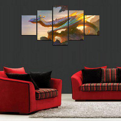 MailingArt FIV414  5 Panels Landscape Wall Art Painting Home Decor Canvas PrintPrints<br>MailingArt FIV414  5 Panels Landscape Wall Art Painting Home Decor Canvas Print<br><br>Craft: Print<br>Form: Five Panels<br>Material: Canvas<br>Package Contents: 5 x Print<br>Package size (L x W x H): 82.00 x 32.00 x 12.00 cm / 32.28 x 12.6 x 4.72 inches<br>Package weight: 1.8000 kg<br>Painting: Include Inner Frame<br>Shape: Horizontal Panoramic<br>Style: Realism, Office / Business, Animal<br>Subjects: Animal<br>Suitable Space: Living Room,Bedroom,Dining Room,Office,Hotel,Cafes,Kids Room,Kitchen,Hallway,Kids Room,Study Room / Office