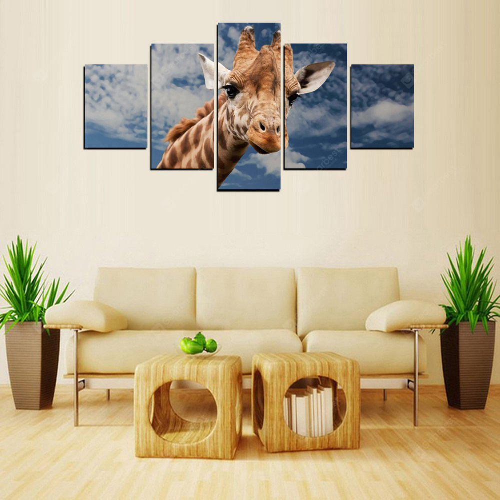 MailingArt FIV416  5 Panels Animal Wall Art Painting Home Decor Canvas Print