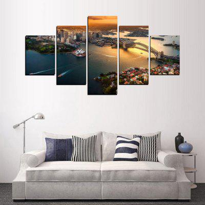 MailingArt FIV421  5 Panels Landscape Wall Art Painting Home Decor Canvas PrintPrints<br>MailingArt FIV421  5 Panels Landscape Wall Art Painting Home Decor Canvas Print<br><br>Craft: Print<br>Form: Five Panels<br>Material: Canvas<br>Package Contents: 5 x Print<br>Package size (L x W x H): 82.00 x 32.00 x 12.00 cm / 32.28 x 12.6 x 4.72 inches<br>Package weight: 1.8000 kg<br>Painting: Include Inner Frame<br>Shape: Horizontal Panoramic<br>Style: Office / Business, Modern / Contemporary, Realism, Scenic, Exotic<br>Subjects: Landscape<br>Suitable Space: Living Room,Bedroom,Dining Room,Office,Hotel,Cafes,Kids Room,Kitchen,Hallway,Kids Room,Study Room / Office