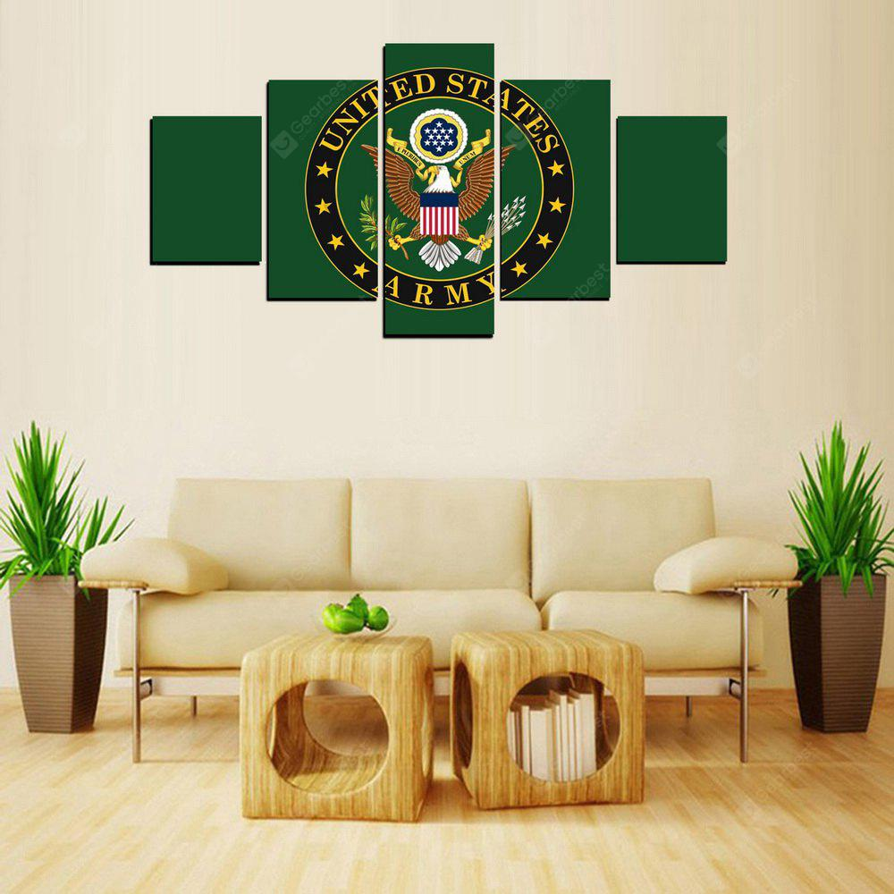 MailingArt FIV424  5 Panels Flag Picture Wall Art Painting Home Decor Canvas Print