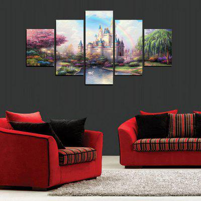 MailingArt FIV425  5 Panels Landscape Wall Art Painting Home Decor Canvas PrintPrints<br>MailingArt FIV425  5 Panels Landscape Wall Art Painting Home Decor Canvas Print<br><br>Craft: Print<br>Form: Five Panels<br>Material: Canvas<br>Package Contents: 5 x Print<br>Package size (L x W x H): 82.00 x 32.00 x 12.00 cm / 32.28 x 12.6 x 4.72 inches<br>Package weight: 1.8000 kg<br>Painting: Include Inner Frame<br>Shape: Horizontal Panoramic<br>Style: Construction, Scenic<br>Subjects: Architecture<br>Suitable Space: Living Room,Bedroom,Dining Room,Office,Hotel,Cafes,Kitchen,Corridor,Hallway,Study Room / Office